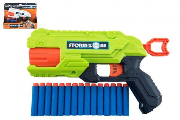 Pistole na pěnové náboje 28cm plast + 16 ks nábojů