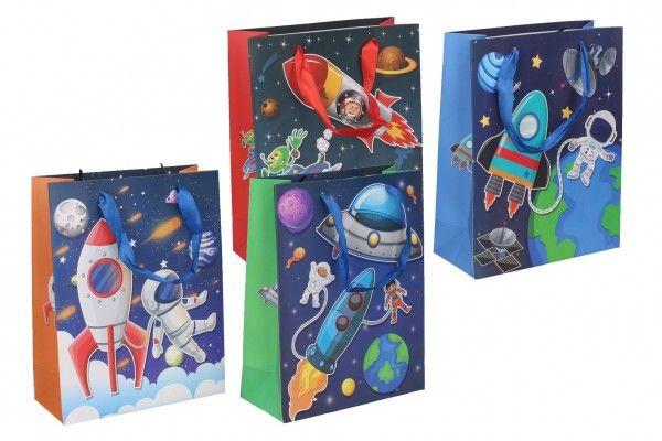 Dárková taška dětská vesmír mix barev 23 x 18 x 8 cm
