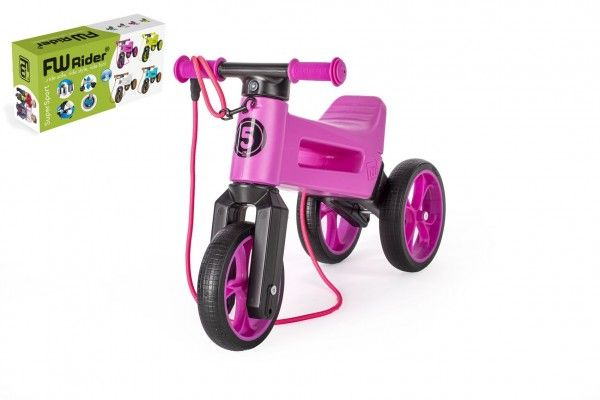 Teddies FUNNY WHEELS Rider SuperSport fialové 2v1popruh 2830cm