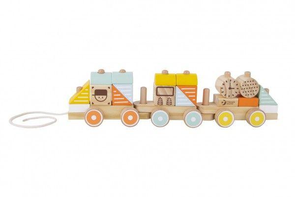 Tahací dřevěný vlak, 48 cm