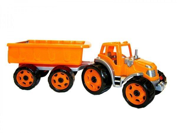 Traktor s vlekem plast 53cm na volný chod