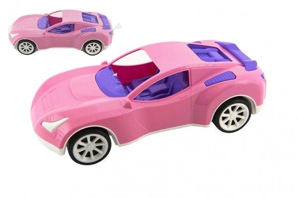 Auto sportovní pro holky růžové plast na volný chod