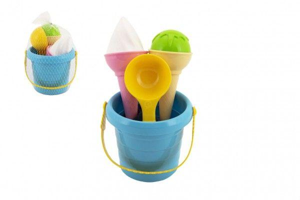 Sada na písek plast kbelík + formičky zmrzlina