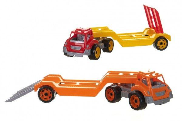 Auto kamion přepravník/odtahovka plast 65cm na volný chod