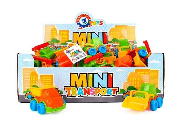 Dopravní prostředek mini plast 10 až 12 cm na volný chod