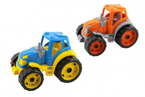 Traktor 24x16cm plast na volný chod