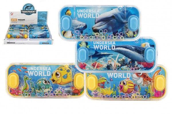 Vodní hra hlavolam 15x7cm plast mořský svět