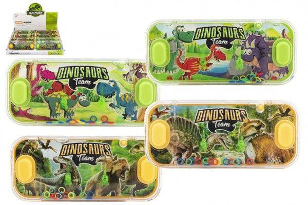 Vodní hra hlavolam 15x7cm plast dinosaurus