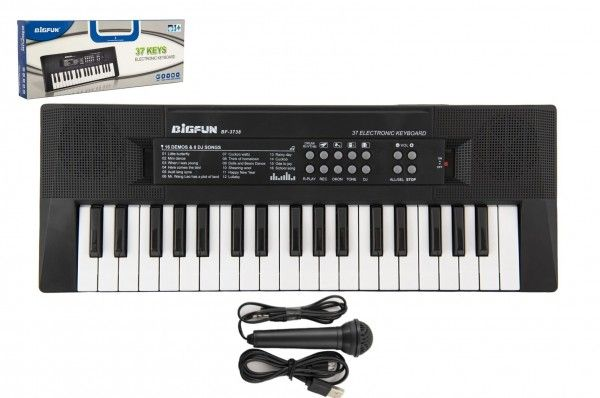 Piánko/Varhany/Klávesy 37 kláves napájení na USB + mikrofon