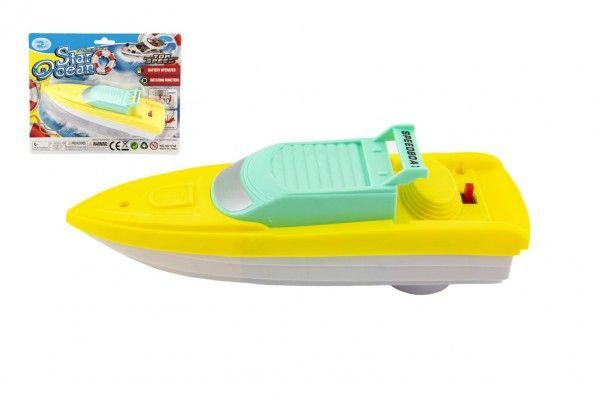 Motorový člun/Loď 17x5cm plast na baterie