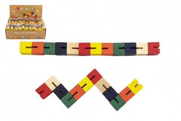 Hlavolam had barevný dřevěný 16 cm v sáčku