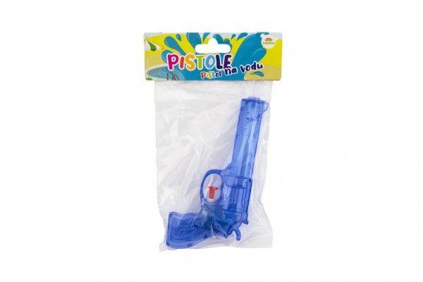Vodní pistole plast 17 cm 3 barvy v sáčku