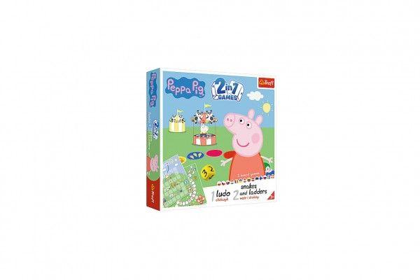 Soubor her 2v1 Člověče, nezlob se, Hadi a žebříky Peppa Pig