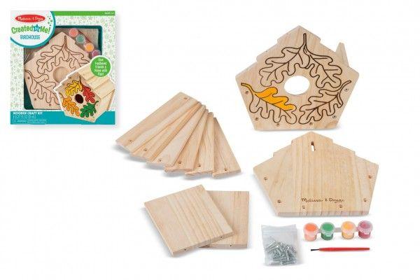 Kreativní sada Vyrob si ptačí budku v krabici 24x26x4,5cm
