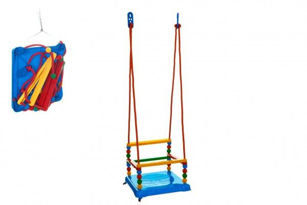Teddies Plastová houpačka s kuličkami, modrá, 35x34cm