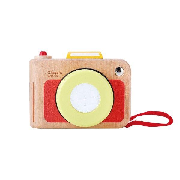 Fotoaparát, dřevěná hračka se šňůrkou, 10m+