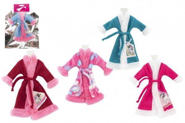 Župánek/Oblečky na panenky mix barev v sáčku 21x28cm