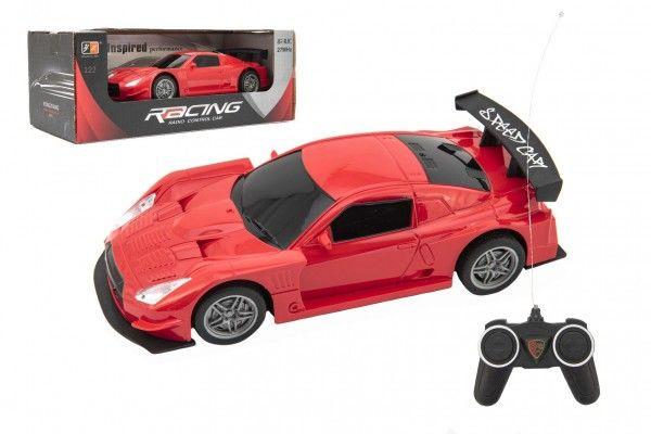 Auto na dálkové ovládání, červené, plast, 20 cm, od 6 let