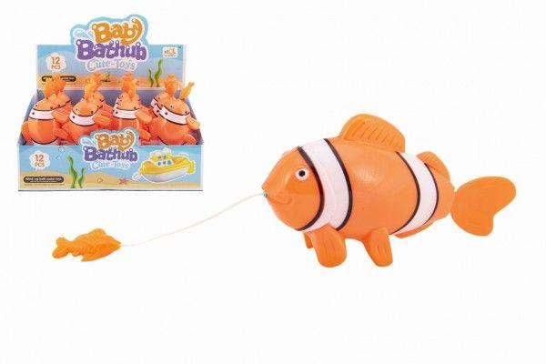 Zvířátko ryba na natažení do vody plast 5x9x18cm