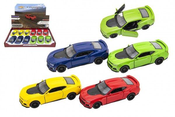 Auto Kinsmart Chevrolet Camaro ZL1 1:38 kov/plast 12,5cm 4 barvy na zpětné natažení 12ks v