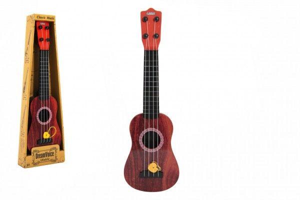 Ukulele/kytara plast 43cm s trsátkem v krabičce 15x48x5cm