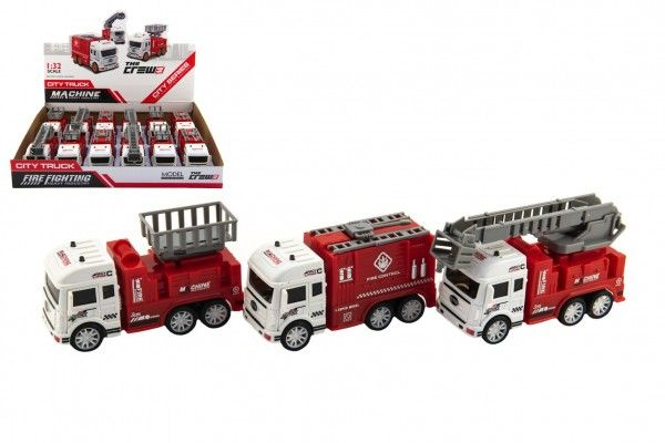 Auto hasiči plast 12cm na setrvačník 3 druhy