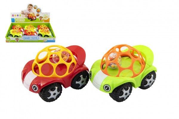 Auto pro nejmenší s míčkem 8x11cm 2 barvy
