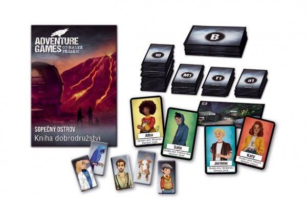 Adventure games: Sopečný ostrov společenská hra v krabici 13x18x4cm