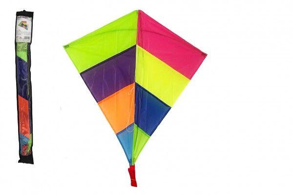 Drak létající nylon 88x81cm barevný v sáčku 10x90cm