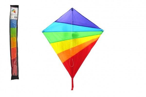Drak létající nylon 88x81cm barevný v sáčku 10x86cm