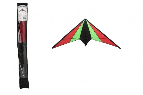 Drak létající nylon 130x65cm barevný v sáčku 10x100cm