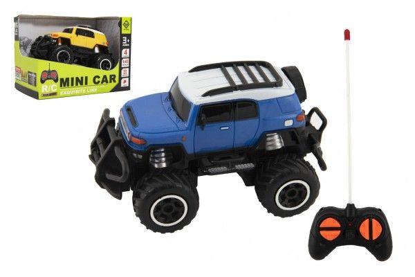 Auto RC mini SUV plast 14cm 27MHz na dálk. ovl. na bat. se světl. 2 barvy v krab. 16x12x10
