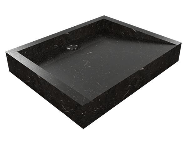 Umyvadlo z přírodního kamene Belua Black
