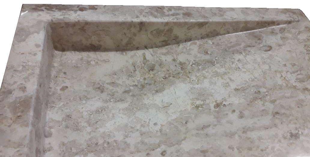 Umyvadlo z přírodního kamene Belua Cream