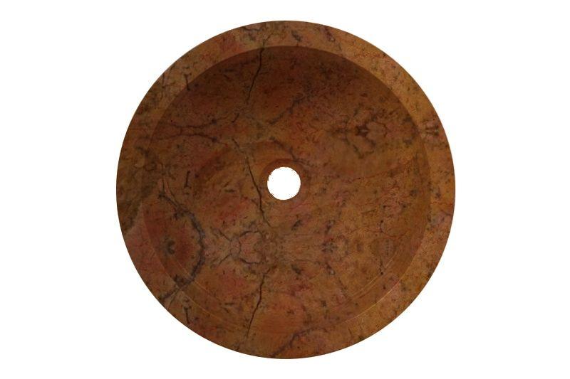 Umyvadlo z přírodního kamene  Mirus 509 na desku Ø45 Yellow