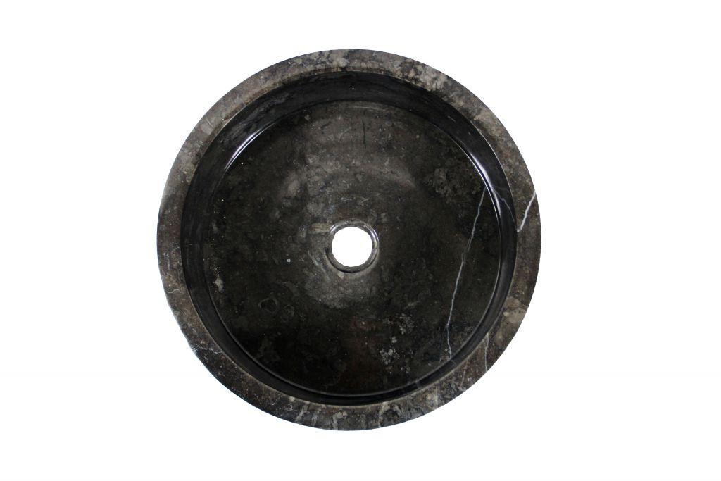 Umyvadlo z přírodního kamene  Mirus 509 na desku Ø40 Black