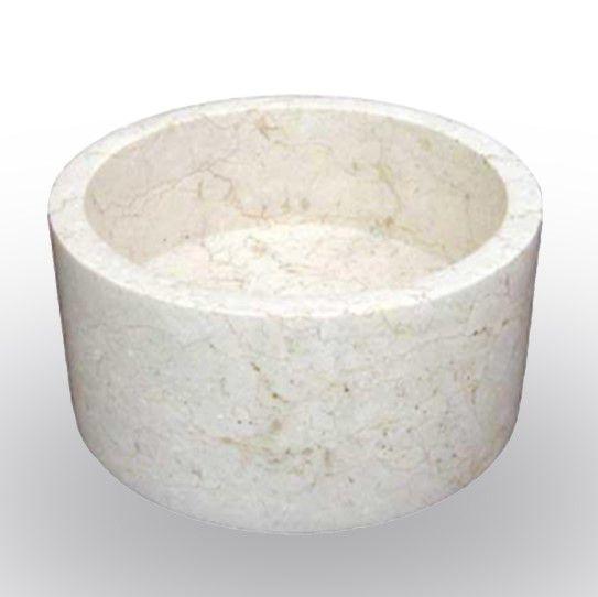 Umyvadlo z přírodního kamene  Mirus 509 na desku Ø40 Cream