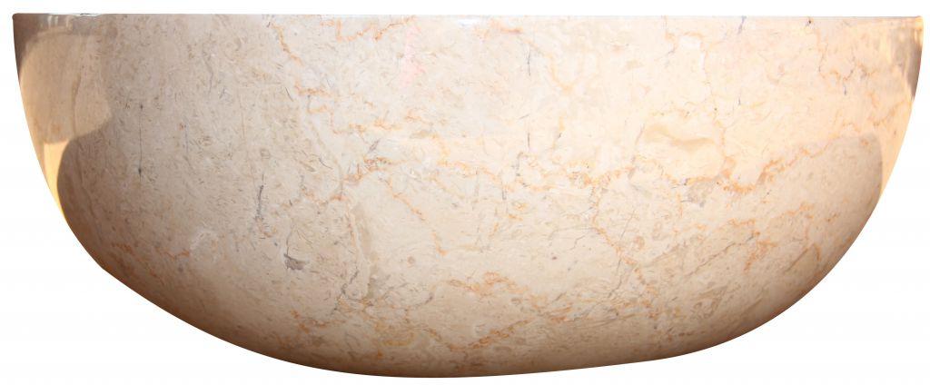Kamenné umyvadlo Gemma 501 leštěný mramor Ø45 cm Cream