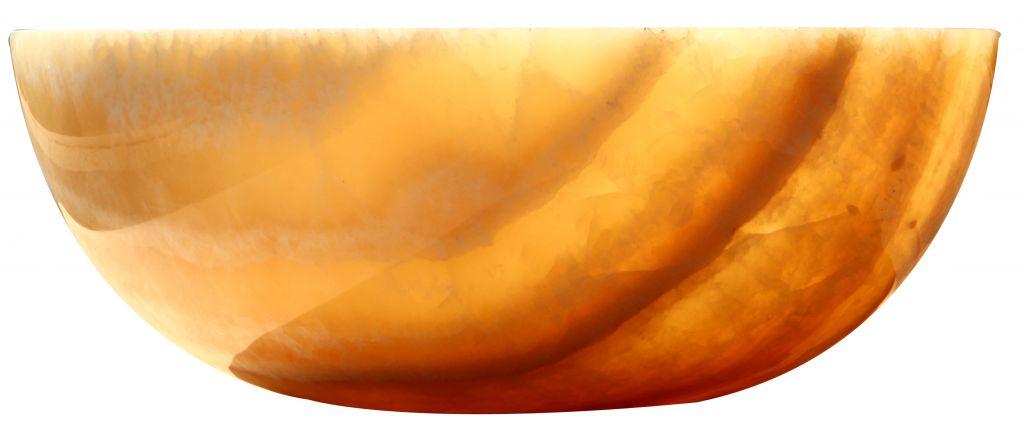 Umyvadlo z přírodního kamene Gemma 501 Onyx Ø45