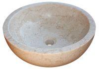Indera Gemma 501 Ø50 cm Cream Kamenné umyvadlo leštěný mramor