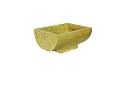 Indera Gratia Yellow Umyvadlo z přírodního kamene