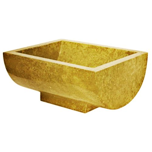 Indera Gratia Yellow 57051 Umyvadlo z přírodního kamene