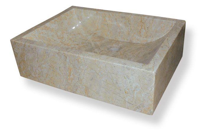 Umyvadlo z přírodního kamene Vester Cream