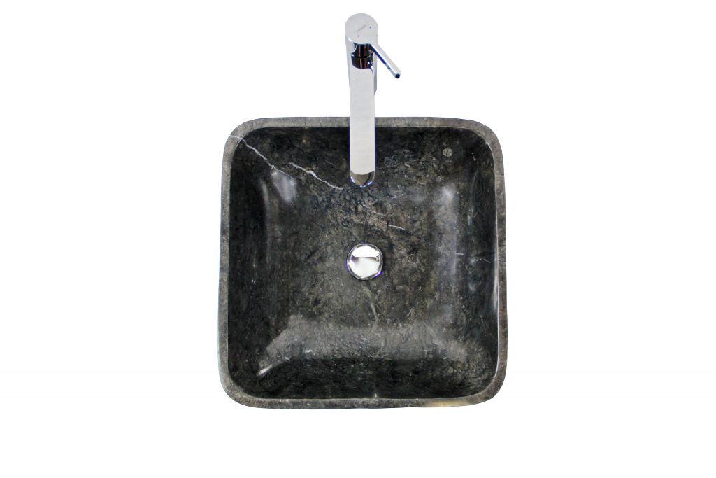 Kamenné umyvadlo Invida Black