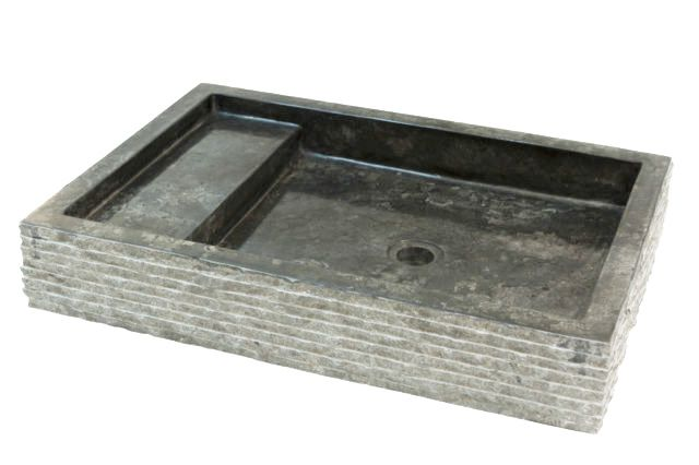 Indera Kotak Trap Marmo Black 57061 Kamenné umyvadlo