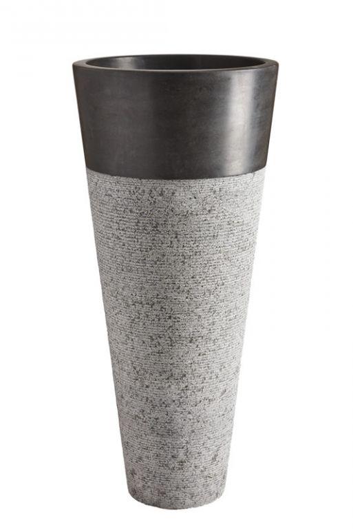 Volně stojící kamenné umyvadlo Pedestal Hammered Black