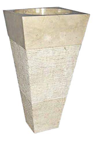 Volně stojící kamenné umyvadlo Pedestal IDS 141 Cream