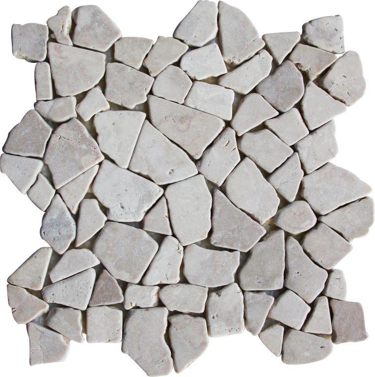 Mozaika z mramoru Kuta White 1 m2