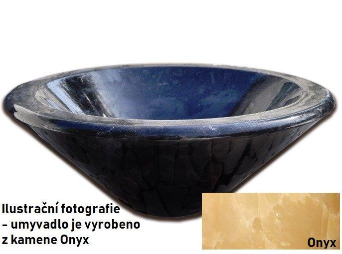 Kamenné umyvadlo Fidus Onyx