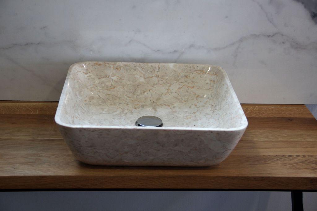 Umyvadlo z přírodního kamene Tantum Cream